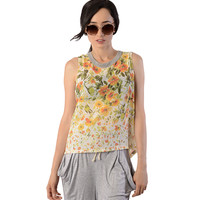 Floral Button Back Blouse - Clothing