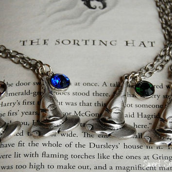 The Sorting Hat Necklace, Custom Harry Potter Sorting Hat Necklace, Harry Potter Jewelry, Harry Potter Gift