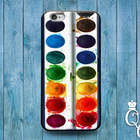 iPhone 4 4s 5 5s 5c 6 6s plus + iPod Touch 4th 5th 6th Generation Beautiful Phone Cover Water Color Paint Palette Cute Case Colorful Rainbow