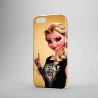 Disney Frozen Elsa Punk Love Sleeping With Sirens iPhone 5 Case