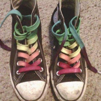 DCCK1IN custom hand dyed shoe laces 63 inch length high top converse vans