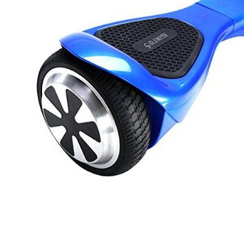 Self Balancing Scooter, G.D.SMITH Smart Two Wheel Self Balancing Electric Scooter Board with Bluetooth Speaker and LED Lights(White)