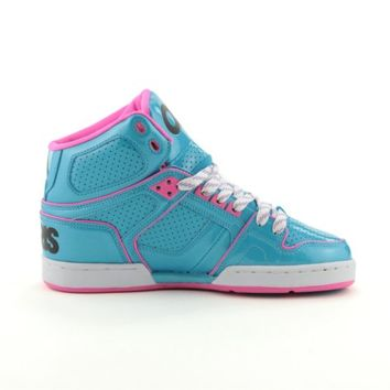 Womens Osiris NYC 83 Slim Skate Shoe, Turquoise Pink White, at Journeys Shoes