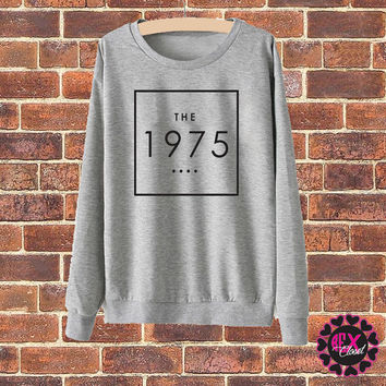 The 1975 band grey sweater jumper pullover