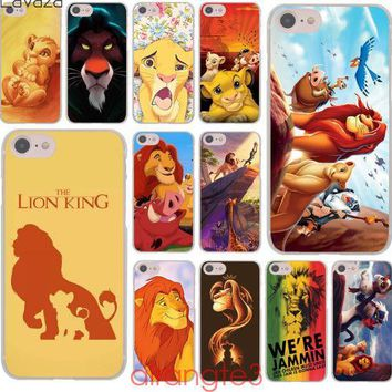 Lion King Simba Grumpy Cat Hard Phone Cover Case for iphone 5 6 7 8 X
