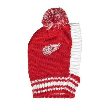 PEAPYW9 Detroit Red Wings Pet Knit Hat