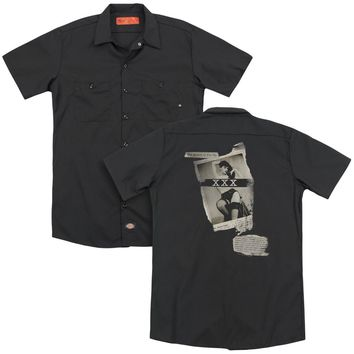 Bettie Page - Newspaper & Lace (Back Print) Adult Work Shirt