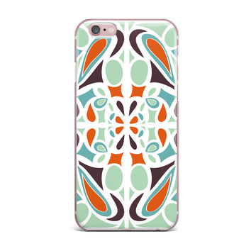 "Miranda Mol ""Orange Purple Stained Glass"" iPhone Case"