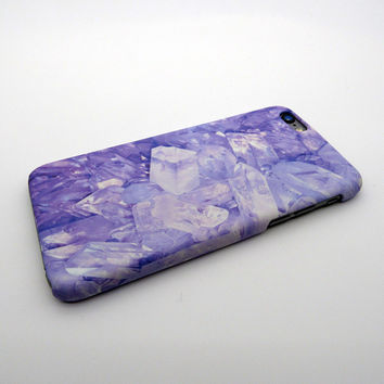 Purple Crystal Stone iPhone 7 7Plus / iPhone 6 6s Plus Case Cover + Gift Box