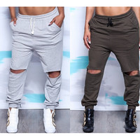 Fashion Hollow Pants Trousers