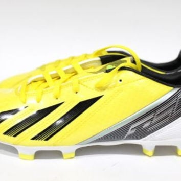 Adidas Men's F10 FG Yellow/Black Soccer Cleats size 6.5 Fits women size 8