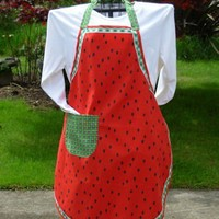Watermelon Apron | QuiltTops - Accessories on ArtFire