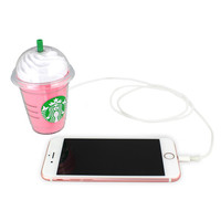 Strawberry Frap USB Power Bank Phone Battery Charger