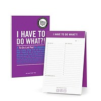 I Have To Do What? Inner Truth Notepad in Purple