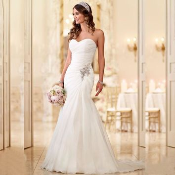 Mermaid Trumpet Chiffon wedding dress