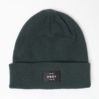 Obey Vernon Beanie - Womens Hat - Green - One