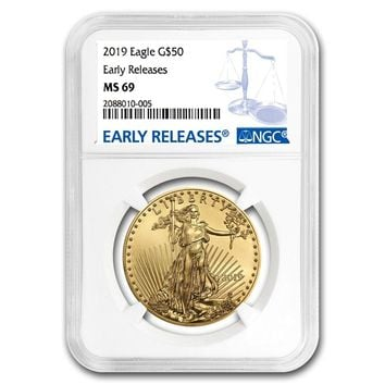 2019 1 oz Gold American Eagle MS-69 NGC (Early Releases)