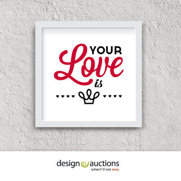 Your Love is King 1984 by Sade | valentine printable love printable love song love prints printable art home decor valentine decor wall art