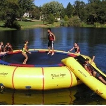 NEW Island Hopper Giant Jump 25' Padded Water Trampoline w/ Warranty & Slide