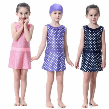 Muslim for Girls Swimsuits for toddlers modest Islamic swimsuit wonderful baby bathing clothes for holiday beach suit
