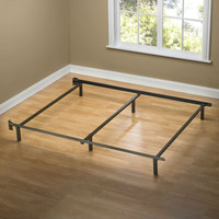 Queen size 6-Leg Metal Bed Frame with Headboard Brackets