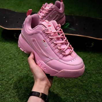 LMFON Best Online Sale FILA Disruptor II 2 Sport Running Shoes Pink FW0165-018