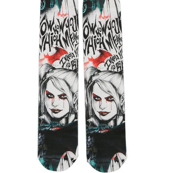 DC Comics Batman: Arkham Knight Harley Quinn Crew Socks