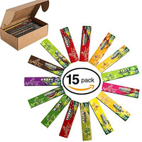 Rolling Papers Variety 15 Packs of Natural Flavored Color tobaccos Cigarette Scales King Size