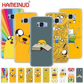 HAMEINUO jake Finn dog adventure time cell phone case cover for Samsung Galaxy S9 S7 edge PLUS S8 S6 S5 S4 S3 MINI