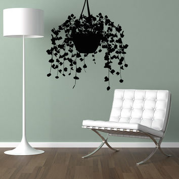 Vinyl Wall Decal Sticker Potted Vine Plant #5168