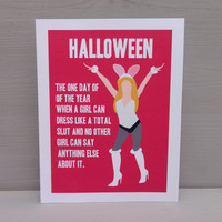 Mean Girls Halloween card