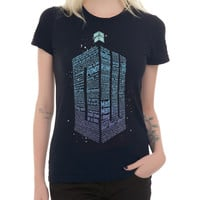 Doctor Who TARDIS Quotes Girls T-Shirt