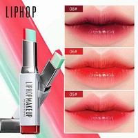 DK7G2 LIPHOP Brand lip gloss lipstick makeup 8 color gradient color Korean style Two color tint lip stick lasting waterproof lip balm