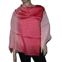 Red ombre Bamboo scarf