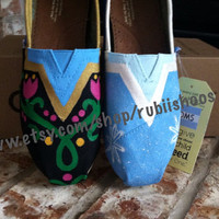 Womens Frozen- Anna And Elsa Themed Toms