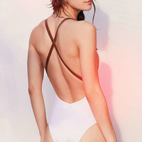RED VELVET By Nicole Marcella Brigitte One-Piece Swimsuit - Urban Outfitters