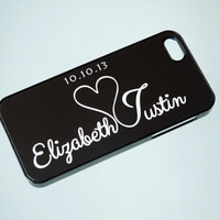 Personalized Phone Case, iPhone 6 Case, Unique Phone Cases, Gift for Couples, Wedding, Samsung Galaxy Case