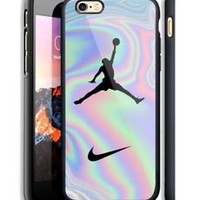 Top Air Jordan Logo Pastel Fit Hard Case For iPhone 6 6s 7 8 Plus X Cover +