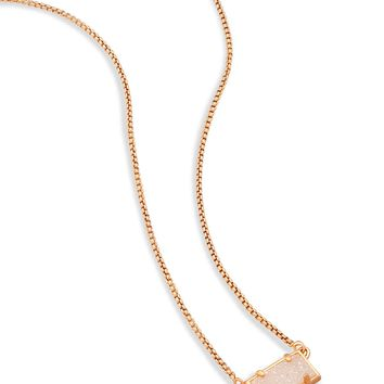 Kendra Scott Pattie Iridescent Drusy Rose Gold Necklace