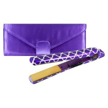 "CHI Air Classic Tourmaline 1"" Ceramic Flat Iron with Thermal Clutch - Bohemian Purple"