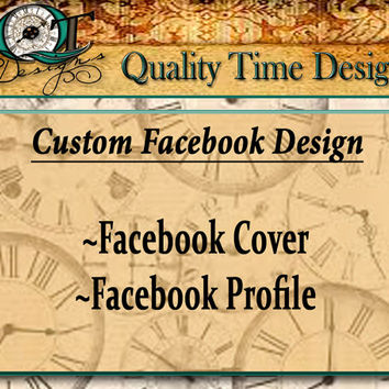 Custom Facebook Page Design Header Profile Logo Graphic Image Product Design Package Store Brand Business Heading Banner