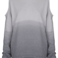 Dip Dye Open Shoulder Sweat - Back In Stock  - New In
