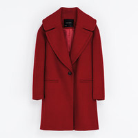 COAT WITH LARGE LAPEL - Special Prices - WOMAN | ZARA United States