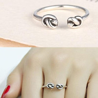 womens mens vintage adjustable leaf ring gift 07