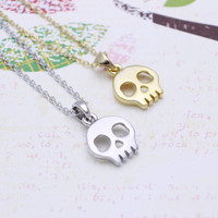 Skeleton  necklace in  silver or gold tone