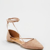 Taupe Strappy Ankle Flat By Qupid® | Flats | rue21