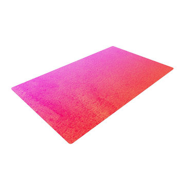 "Monika Strigel ""Fruit Punch"" Magenta Orange Woven Area Rug"