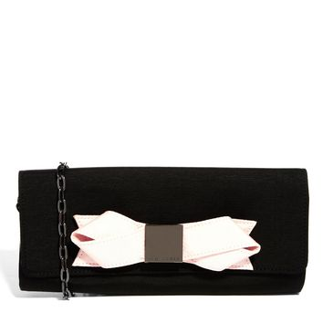 Ted Baker Bowla Black Bow Clutch Bag