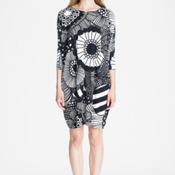 Apparel: Marimekko Samlis dress in off white, black | Marimekko Store