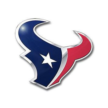 Licensed Official NFL Houston Texans Premium Vinyl Decal / Sticker / Emblem - Pick Your Pack